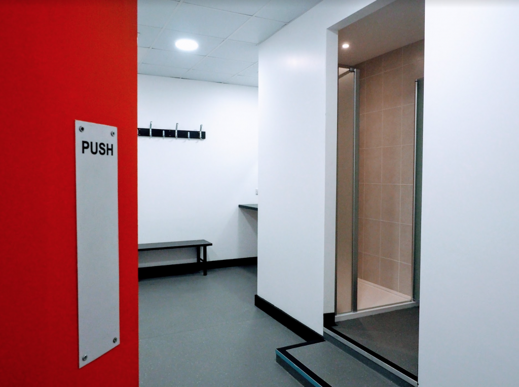 Creighan Contracts changing room fitout