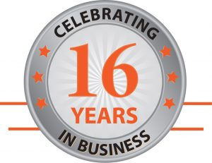 Creighan 16 years logo